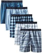 Hanes Men's 5-Pack FreshIQ Tagless, Tartan Boxer with Exposed Waistband,XX-Large