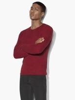 John Varvatos Waffle Stitch Crewneck Sweater