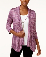 Alfred Dunner Petite Layered-Look Space-Dyed Top
