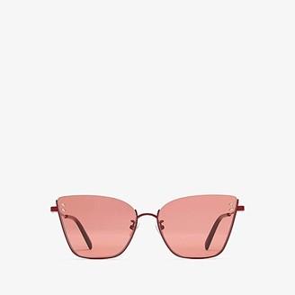 Stella McCartney SC0182S (Shiny Solid Varnished Burgundy/Solid Red) Fashion Sunglasses