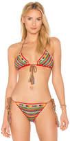 Anna Kosturova Aztec Bikini Top in Red. - size L (also in M,S,XS)