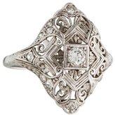 Ring Platinum Art Deco Diamond