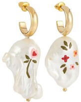 Thumbnail for your product : Simone Rocha Hand-painted baroque pearl earrings