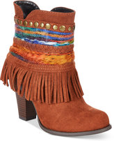 DOLCE by Mojo Moxy Bronco Western Fringe Booties