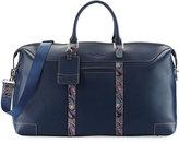 Robert Graham Paisley Leather Weekender Bag, Navy