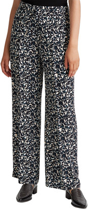 Club Monaco Wide Legged Silk Pant