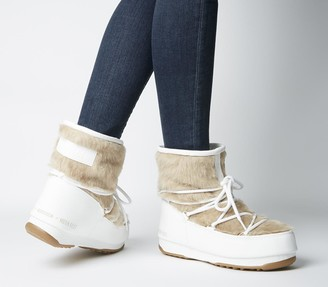 Moon Boot Monaco Low Fur Boots White