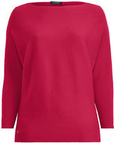 Ralph Lauren Woman Cotton-Blend Dolman Sweater