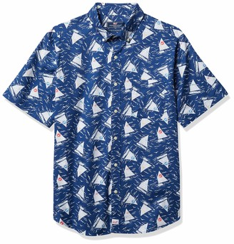 Vineyard Vines Men's Short Sleeve Classic Catboats Murray Button Down Shirt