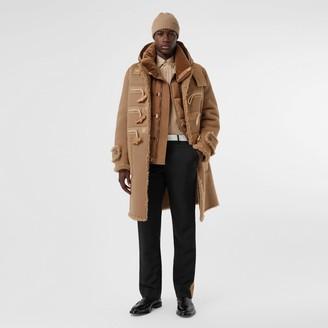 Burberry Reversible Neoprene and Shearling Hooded Duffle Coat