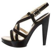 Versace Suede Platform Sandals