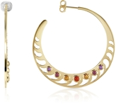 Sho London Mari Rush Silver Vermeil Hoop Earrings