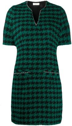 Sandro Paris houndstooth A-line dress