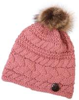 Riah Fashion Button Knitted Pom Beanie
