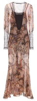 Etro Lace-trimmed silk dress