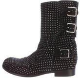 Laurence Dacade Embellished Suede Ankle Boots