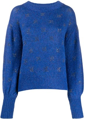 John Richmond Rhinestone Logo Jumper
