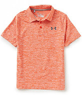 Under Armour Big Boys 8-20 Playoff Heathered Short-Sleeve Polo Shirt