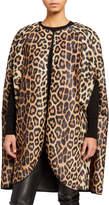 House Of Fluff Leopard Print Faux Fur Cape