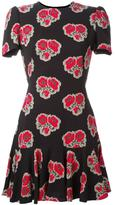 Alexander McQueen poppy print ruffle dress - women - Silk - 40