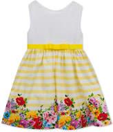 Rare Editions Eyelet-Bodice Dress, Toddler Girls