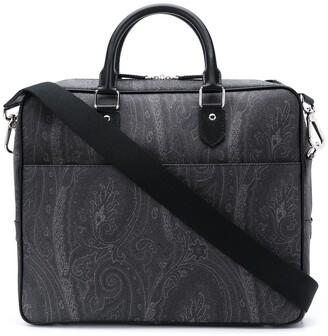 Etro Paisley Print Laptop Bag