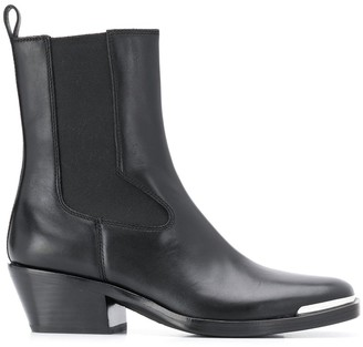Ash Square Toe Ankle Boots