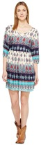 Roper 1127 Border Printed Rayon Flowy Dress Women's Dress