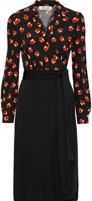 Diane von Furstenberg Angelina Floral-print Crepe And Cady Wrap Dress