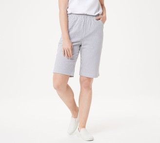Factory Quacker Stretch Seersucker Shorts with Pockets