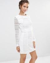Boohoo Structured Lace Mini Dress