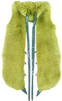 Fearfur Praying Mantis Green Fox Fur Stole