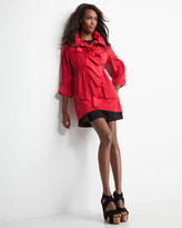 Rebecca Taylor Raglan-Sleeve Pleat-Skirt Dress, Royal/Black