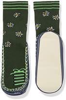 Playshoes Girl's Hüttenschuhe Edelweiß Knee-High Socks, Green (Grün)