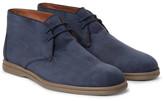 Loro Piana Soft Walk Nubuck Chukka Boots - Storm blue