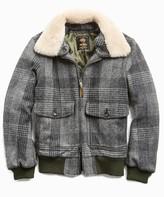 Todd Snyder Exclusive Golden Bear + Harris Tweed Faux Fur Collar Tweed Bomber