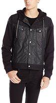 Calvin Klein Jeans Men's Mixed Media Hooded Jacket