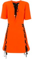 Fausto Puglisi lace-up detail dress