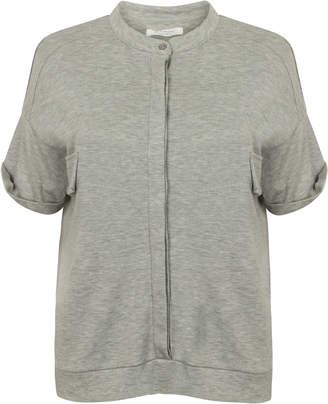 Beaumont Organic Violet Lyocell Cotton Shirt - M - Grey