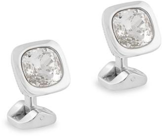 Ermenegildo Zegna Faceted Square Swarovski Crystal Cufflinks