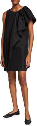 Carolina Herrera Cascade Silk Mini Dress