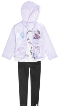 Hello Kitty Toddler Girls 3-Pc. Cosmic Kitty Jacket, T-Shirt & Leggings Set