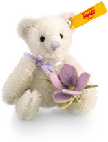 Steiff Mini Teddy with Crocus Bloom Stuffed Toy, White