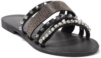 Zigi Aiza Strappy Embellished Slide Sandal