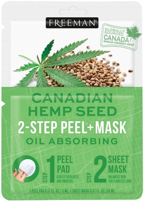 Freeman Oil-Absorbing Canadian Hemp Seed 2-Step Peel & Mask