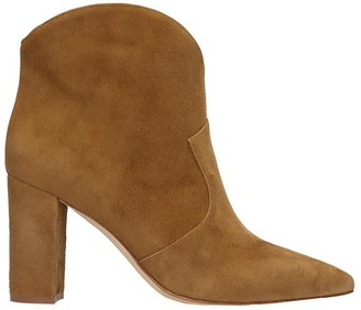 The Seller High Heels Ankle Boots In Leather Color Suede
