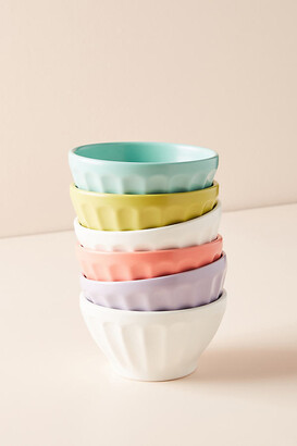 Anthropologie Matte Latte Bowls, Set of 6 By in Assorted Size SET OF 6