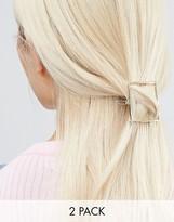 NY:LON Geo 2 Pack Hair Slides