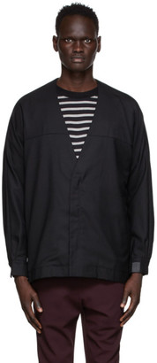 N.Hoolywood Black Shirt Cardigan