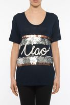 Lanvin Embroidered Jersey Top